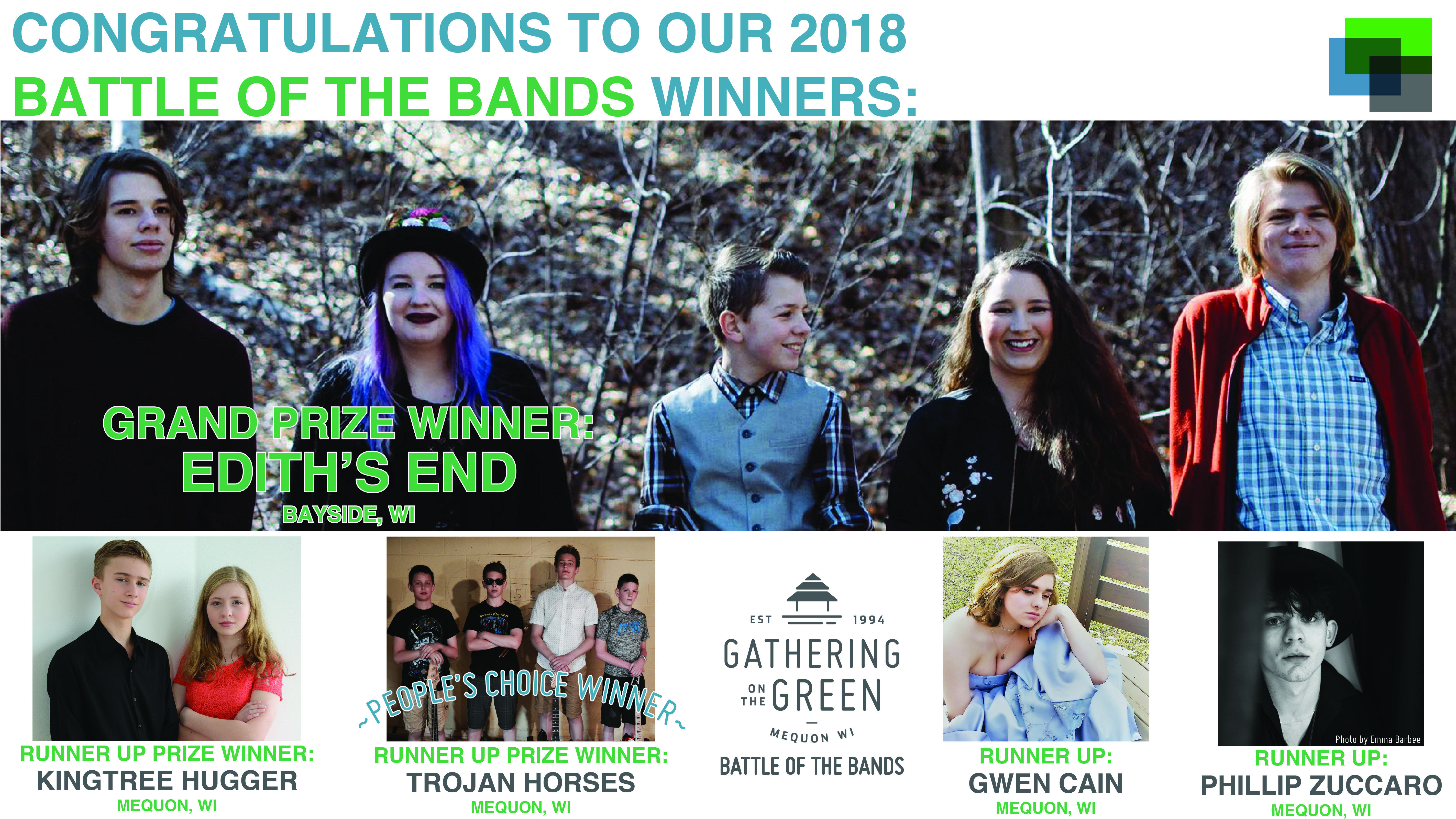 Gathering on the Green - Battle of the Bands Winners - 2018